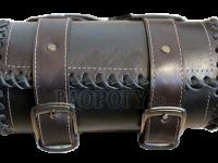 Кофр батон с оплёткой косичкой для мотоцикла