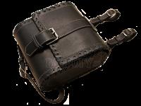 Байкерская набедренная сумка из кожи