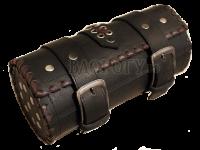 Кофр батон с коричневой оплёткой и клёпками