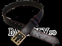 Ремень офицерский из кожи с литой латунной пряжкой